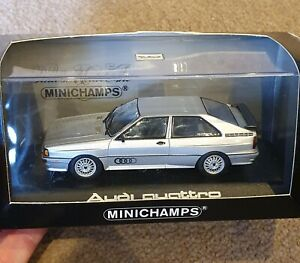 Minichamps Dealer Model Audi Quattro1/43 In Silver
