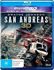 SAN ANDREAS 2D & 3D New Blu-Ray + UV (2 DISC) DWAYNE JOHNSON ***