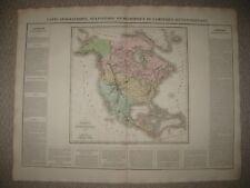 IMPORTANT ANTIQUE 1825 NORTH AMERICA UNITED STATES TEXAS CAREY & LEA BUCHON MAP