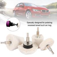 4X Car Polish Polishing Buffing Pads Mop Wheel Corner Drill Kit for Car Polisher