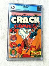 Crack Comics #4 August 1940 Quality Comics CGC 5.5 Off-white/White pages Golden