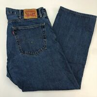 Levi's 505 Jeans Mens 40X30 Blue Straight Leg Regular Fit Cotton Medium Washed