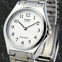 Casio MTP-1130A-7B Mens White Analog Watch Stainless Steel Band Casual Dress New