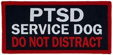 "PTSD SERVICE DOG DO NOT DISTRACT Sew-On (SD-017SM) Woven Patch 1.5"" x2.5"""