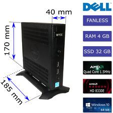 Dell AMD Quad Core 1.5GHz 4GB RAM 32GB SSD WYSE Dx0Q 5020 Fanless Mini PC + PSU