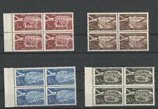 Yugoslavia Trieste - airplane stamps in quarters MNH