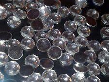500 x 8mm Clear DIAMANTE Rhinestones Gems Crystals FLAT BACK Stick On with Glue