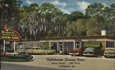 Tallahassee FL Dining Room NICE LINEN DRIVE-IN Postcard