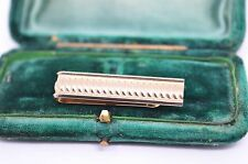 Vintage yellow metal tie clip in the art deco style #T361