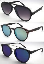 Fashion Designer Colour Mirrored Flat Sunglasses Stylish Retro Round/Pilot Frame