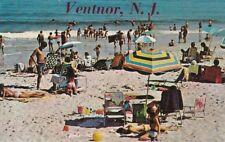 Postcard Ventnor Beach NJ