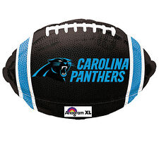 """NFL Carolina Panthers Football Shaped 18"""" Foil Balloon Double Sided Party 3 Pack"""