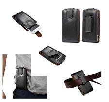 for BLACKBERRY LEAP Genuine Leather Holster Case belt Clip 360° Rotary Magnetic
