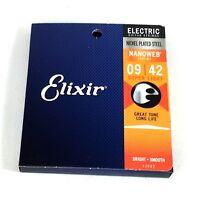 Elixir Guitar Strings   Nanoweb  Electric  Super Light (Lite)  009-042