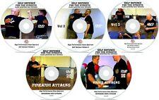 Self Defence 5 DVDs MEGA DISC BUNDLE Street Fighting Secret Tactics Martial Arts