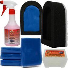 4x50g Reinigungsknete Blau Fine 500ml spezial Gleitmittel Polierknete Politur