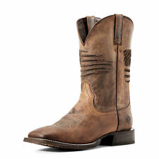 Ariat 10029699 Men's Weathered Tan Circuit Patriot Wide Square Toe Western Boot