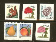 US Scott # 2489 - 2494 Set of 6 Flora & Fauna Stamps