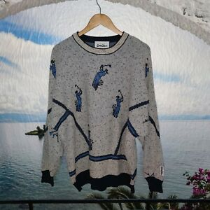 Herren Pullover Carlo Colucci  Gr 2XL  Mehrfarbig Vintage  LOGO Schick Modern