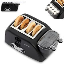 West Bend Egg Muffin Toaster 4 Slice Defrosting Automatic Cook Egg Poach Break