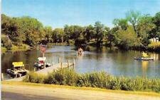 MN, Minnesota YE OLD MILL INN LANDING Paddleboats NEST LAKE-GREEN LAKE  Postcard