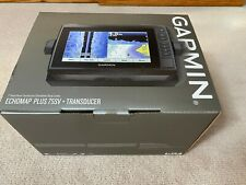 Garmin Echomap Plus 75 sv with new Gt52 Transducer and LakeVü G3 Canada Maps