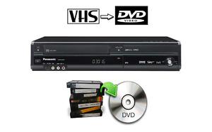 Panasonic DMR-EZ48V DVD VHS Recorder Combo HDMI Copy VHS To DVD