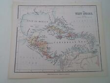 Antique Map 1890 THE WEST INDIES  From Philips Atlas For Beginners  §28