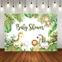 Jungle Safari Animals Backdrop Baby Shower Kids Birthday Party Photo Background