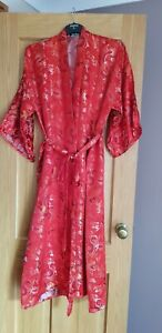 Red Chinese Dressing Gown/Robe  by Simei Fashion Size 12-14
