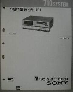SONY SL-C6E/UB Operation Manual Nr. 1 Schaltungsbeschreibung Circuit description