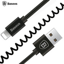 BASEUS 1.6m Spring Fast Charging USB Cable for iPhone SE 5s 6 6s 7 Plus iPad