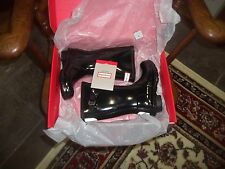 GLOSS HUNTER WELLIES WELLINGTONS IN HALIFAX SIZE 9  KIDS BLACK GLOSS