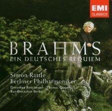 """SIMON RATTLE """"EIN DEUTSCHES REQUIEM/BRAHMS"""" CD NEW+"""