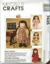 McCalls 7435 Emma American Girl Doll Fancy Frocks Wardrobe pattern UNCUT FF