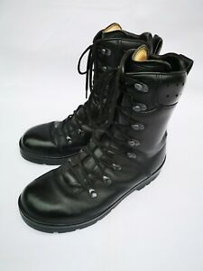 German Army Para Boots Genuine Military Surplus Combat Black Leather,Size 9(275)