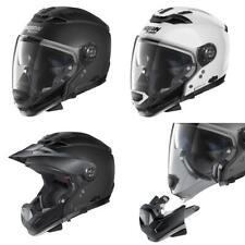 Nolan N70-2 GT Classic N-Com Adventure Motorcycle Helmet Off Road Black White