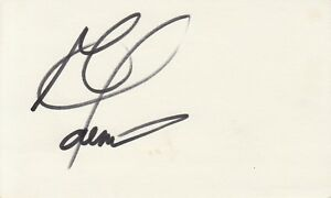 GEORGE FOREMAN hand-signed 3x5 card - UACC RD COA - authentic - BOLD AUTOGRAPH