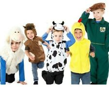 Kinder Huhn Kuh Schaf Pferd Reißverschluss Kostüm Alter 3 4 5 6 7 Jungen Mädchen