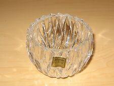 "Noritake Satin Leaves Crystal Made In Germany NWOB 5.5"" Candy Dish Bowl RARE"