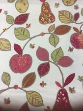 SMD Apples Pears Terracotta Fabric By The Metre