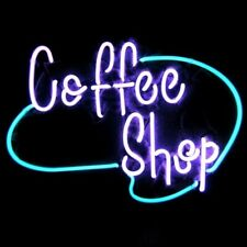 "Neon Light Sign 24""x20"" Coffee Shop Cafe Espresso Glass Decor Bar Lamp"