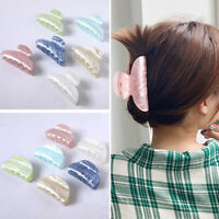 Large Size Marble Hair Claw Crab Clamp Chic Acrylic Makeup Hair Clip Barrette