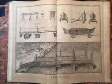 Enciclopedie Diderot 1752-1770: Charpenterie, Carpenteria navale, 51 tavole NAVI
