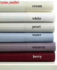 Charter Club QUEEN FLAT SHEET Tailored Fit Striped Pearl Grey 400 TC Sateen
