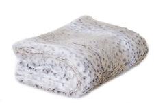 14 Karat Home Inc. Snow Leopard Faux Fur Throw Blanket