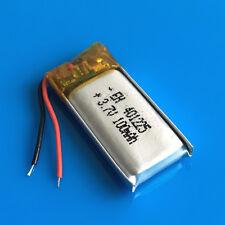 100mAh 3.7V Li Po Battery For Mp3 Video Pen Headset Bluetooth Headphone 401225