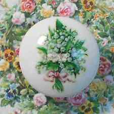 Ceramic knob LILY OF THE VALLEY drawer door cabinet pull kitchen office room