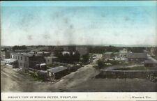 Wheatland WY Birdseye View c1910 Postcard