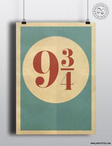 PLATFORM 9 3/4 - Minimalist Movie Poster by Posteritty Minimal Print Art Potter